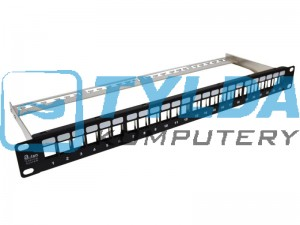 "A-LAN Patch panel A-LAN PK020 (1U; 19""; 24xRJ-45)"